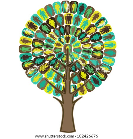 Sociology Tree - stock vector