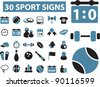 30 sport icons set, vector illustrations - stock vector