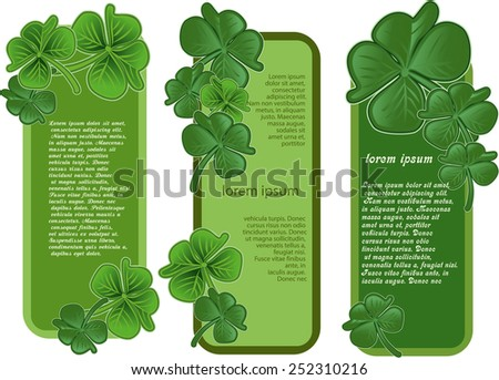 St. Patrick's Day's day banners design - stock vector