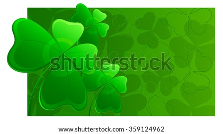 St.Patricks Day background - stock vector