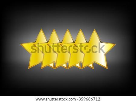 5 stars - stock vector