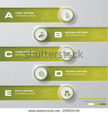 5 steps chart. Editable template, background, website layout. For your design and presentation. Vector illustration. EPS 10.  - stock vector
