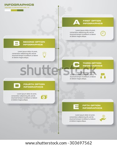 Vector Infographic Template Business Concept 5 Stock Vector