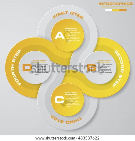4 steps Infographic report template layout. Vector illustration EPS 10.