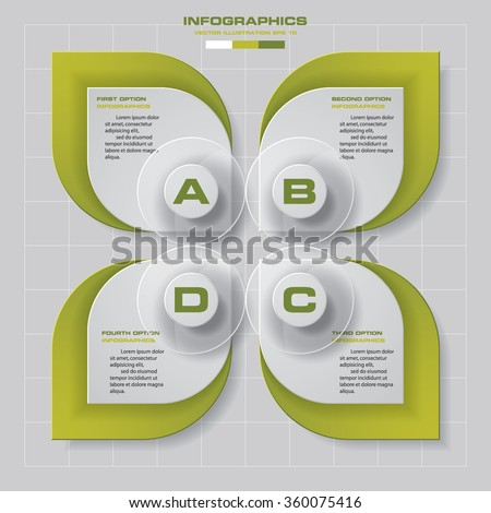 4 steps Infographics vector design template. Simple&Editable for your sample text. Business clean template. EPS 10. - stock vector