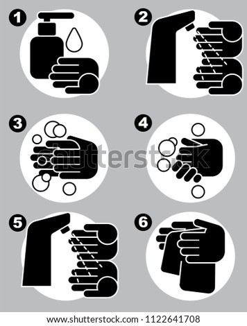 6 Steps Prevent Spread Germs Hand Stock Vector 1122641708 Shutterstock