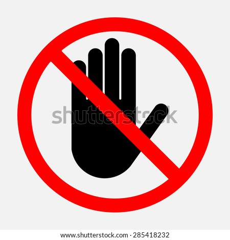stop sign, red round sign, a sign prohibiting activities editable vector illustrations - stock vector