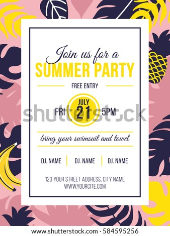 summer party invitation stock images, royalty-free images, Party invitations