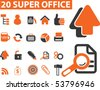 20 super office signs. vector - stock photo