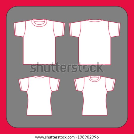 T-shirt design template. Black and white. - stock vector