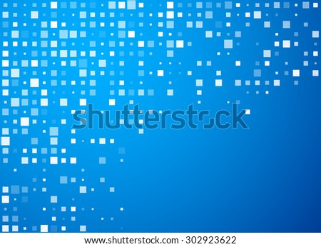Technology circles blue pattern banner. Vector background.  - stock vector
