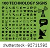 100 technology icons, signs, vector illustrations - stock vector
