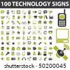 100 technology signs. vector - stock vector