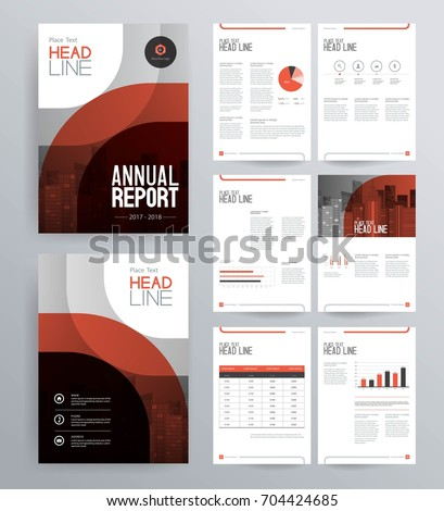 Template design company profile annual report stock vector for Company profile brochure template