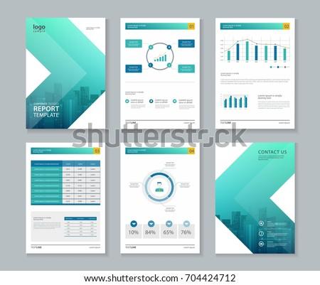 Business Brochure Design Template Page Layout Stock Vektorgrafik
