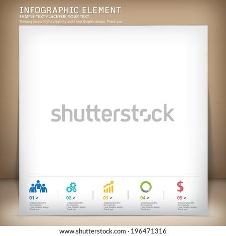 template modern design, vector, template, info-grapgic  - stock vector