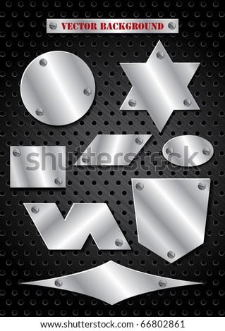 Texture of Metal grill - stock vector