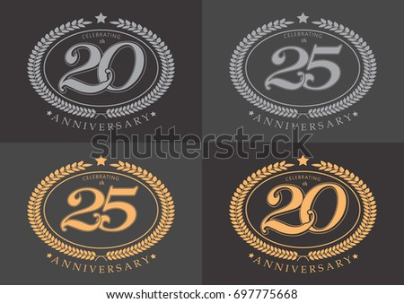 Th th anniversary celebrating classic vector stock vector