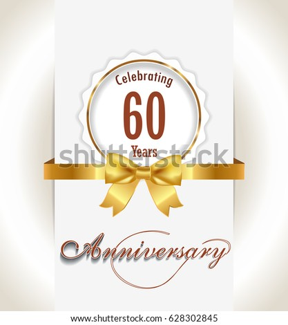 60th anniversary background 60 years celebration stock photo photo 60th anniversary background 60 years celebration invitation card vector eps 10 stopboris Image collections