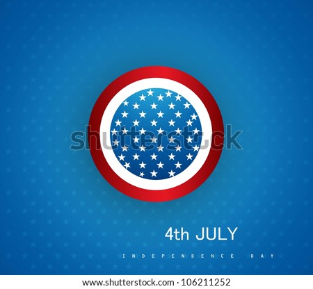 4th july american independence day circle vector design - stock vector