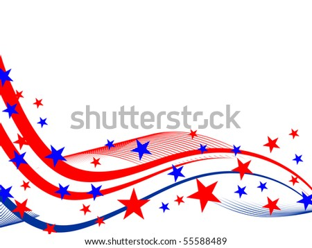 4th july background - vector - stock vector
