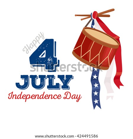4th july fireworks background, fourth of july vector banner, american national flag decoration, celebration usa independence day illustration, symbol of united states freedom, patriotic holiday - stock vector