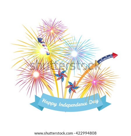 4th july fireworks background fourth vector stock vector hd royalty 4th july fireworks background fourth vector banner american national flag decoration celebration usa voltagebd Image collections