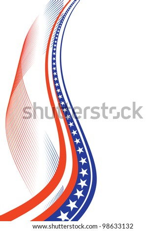 4th july independence background - vector - stock vector