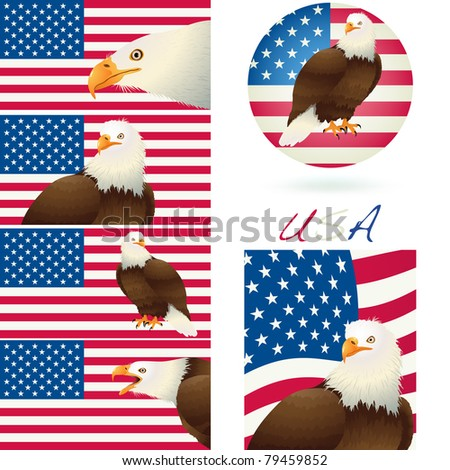 4th July Independence day banner background isolated on white. Vector - stock vector