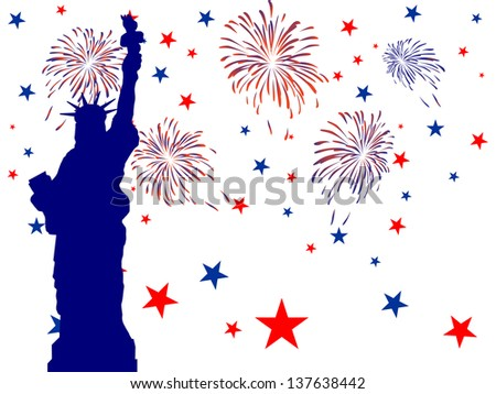 4th july independence day - vector - stock vector