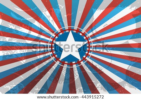 4th July USA. 4th July flag. 4th July holiday. 4th July day. 4th July America. 4th July celebration. 4th July image. 4th July American. 4th July red. 4th July blue. 4th July vector. 4th July banner - stock vector