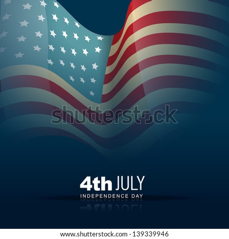 4th of july american independence day design - stock vector
