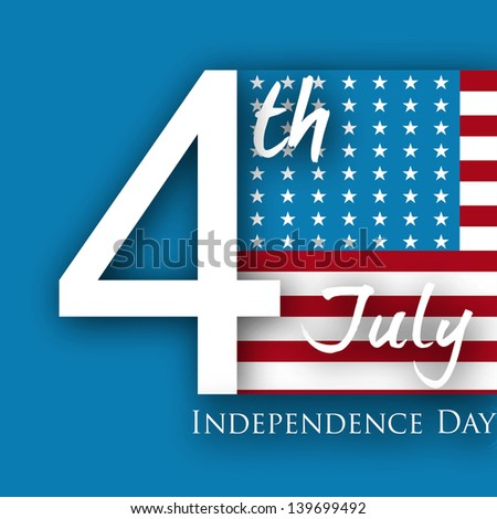 4th of July, American Independence Day flyer, poster or background. - stock vector