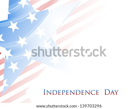 4th of July, American Independence Day grungy background with star in national flag colors. - stock vector