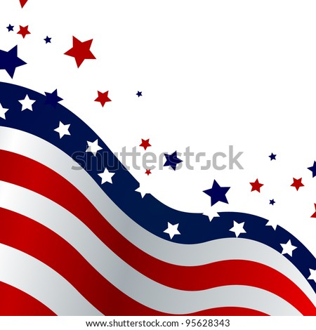 4th of july background - vector - stock vector
