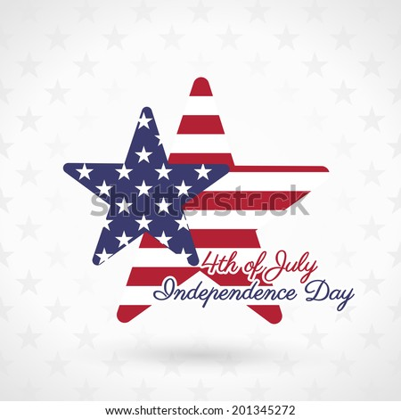 4th of July illustration, American Independence Day celebration - stock vector