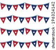 4th of July seamless bunting pattern - stock vector