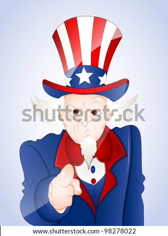 4th of July Uncle Sam Want You - stock vector