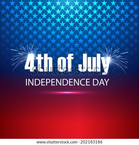 4th of July United States of America beautiful background vector - stock vector