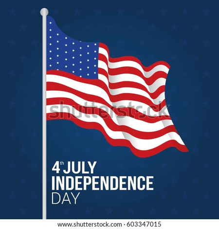 4th July Usa Happy Independence Day Stock Vector 603347015