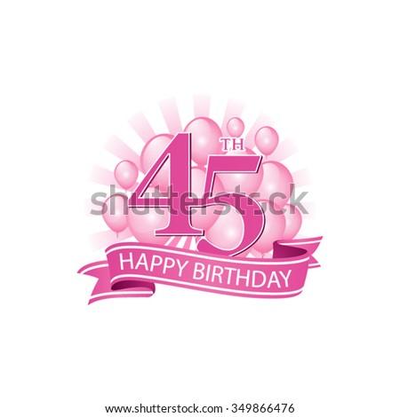 45th Birthday Stock Vectors & Vector Clip Art | Shutterstock