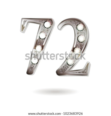 72th silver anniversary logo, ten years birthday celebration solated on white background