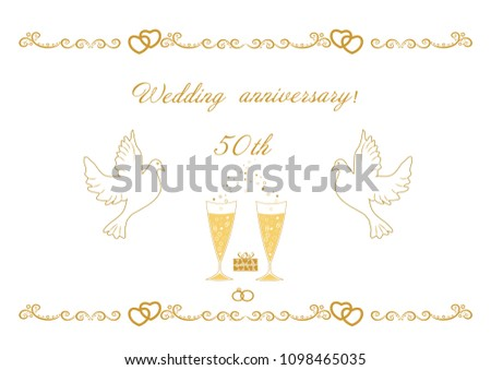 50th wedding anniversary card greetings writing stock photo photo 50th wedding anniversary card for greetings and writing text ve m4hsunfo