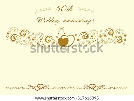 50th wedding anniversary invitation beautiful editable vector stock 50th wedding anniversary invitationautiful editable vector illustration stopboris Image collections