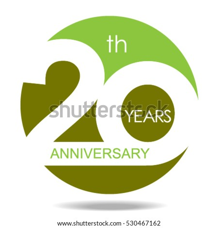 20th Years Anniversary Celebration Logo Signvector Stock Vector Hd