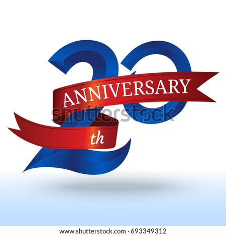 20th Years Anniversary Symbol Vector Stock Vector 693349312