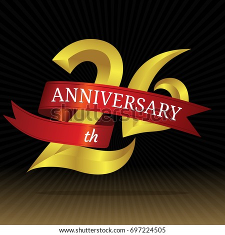 26th Years Anniversary Vector Symbol Stock Vector Hd Royalty Free