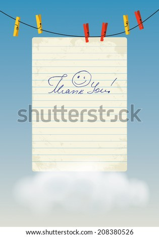 'Thank You' - stock vector
