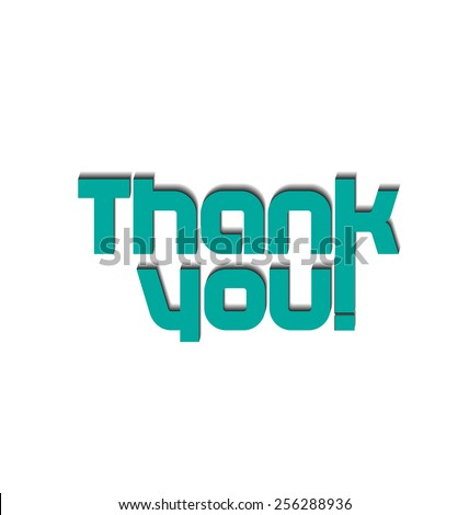 Thank you card . Texture label background image - stock vector
