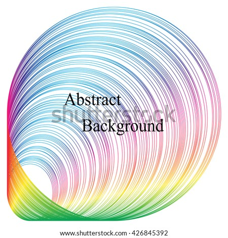 The Expanding Circles Pattern.Iridescent Striped Tunnel.Template for Visiting Cards, Labels, Fliers, Banners,Badges,Posters,Stickers and Advertising Actions.  Abstract Background.Vector Illustration. - stock vector